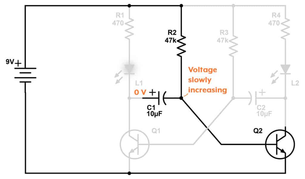 Astable multivibrator explanation 2