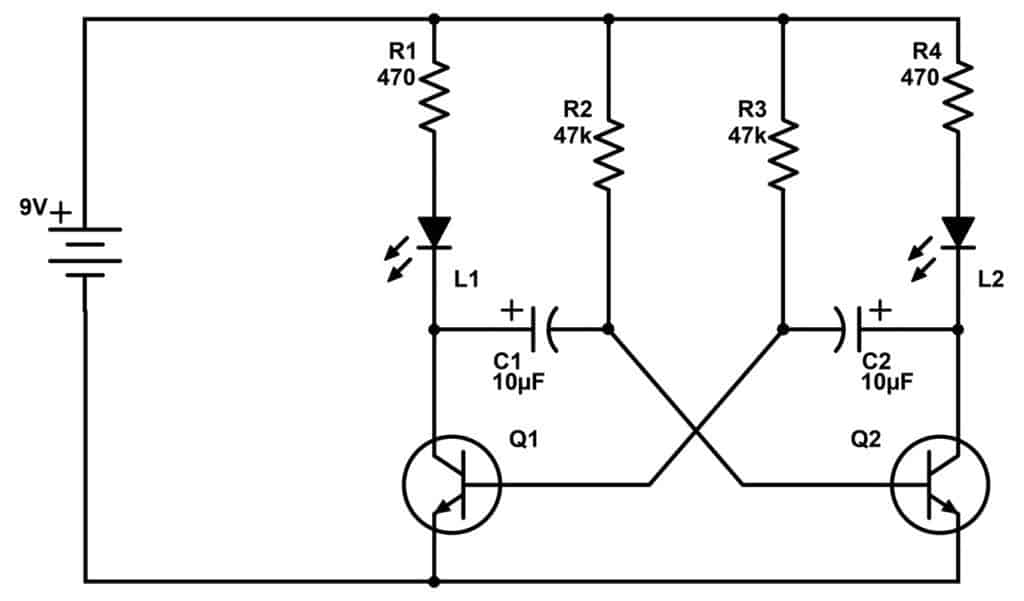 Astable multivibrator circuit