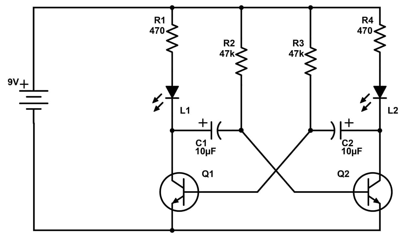 how astable multivibrator circuits work