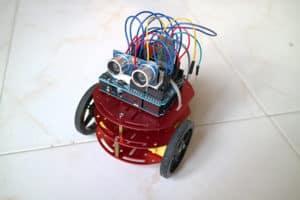 The assembled arduino robot