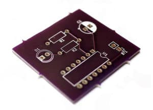 Blinking LED PCB from OSHPark