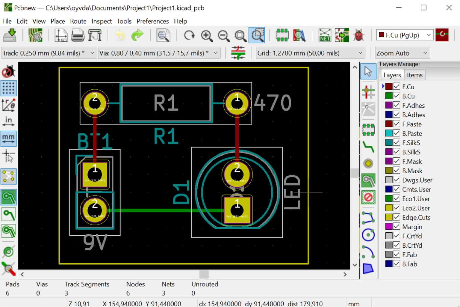 Kicad tutorial complete board design