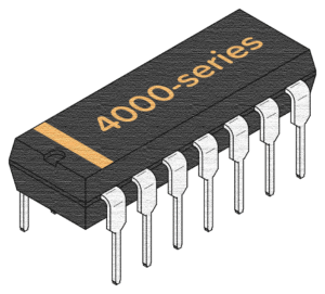 Integrated Circuit with 4000-series label