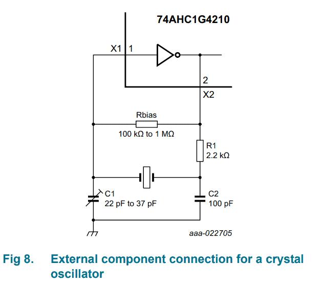 How to setup cd4060 with crystal / pierce oscillator
