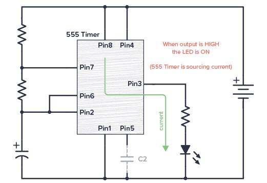 555 timer sourcing current