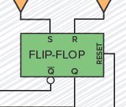 The SR flip-flop inside the 555 timer