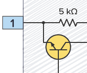 The transistor that connects discharge to ground inside the 555 timer